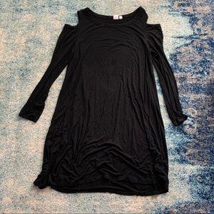 Gap Cold shoulder shift dress